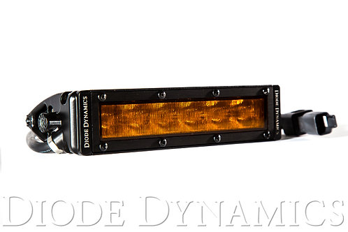 6 Inch LED Light Bar Single Row Straight SS6 Amber Wide Light Bar Single