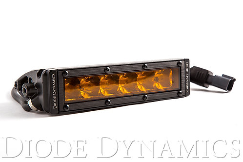 6 Inch LED Light Bar Single Row Straight SS6 Amber Driving Light Bar Single