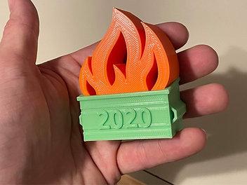 2020 Dumpster-Fire Ornament