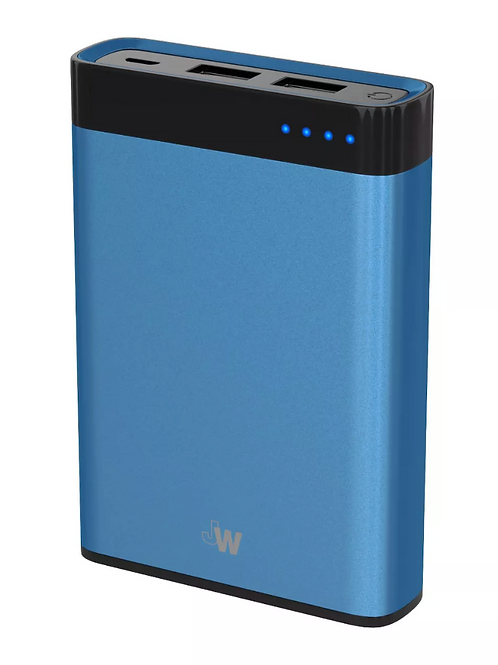 Just Wireless 2-Port USB 10,000mAh Portable Power Bank - Blue
