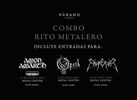 Tres grandes conciertos de metal llegan en combo en el primer semestre de 2020