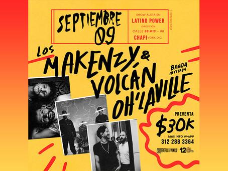 Agenda: Volcán, Árbol de Ojos y Oh'laville en Latino Power