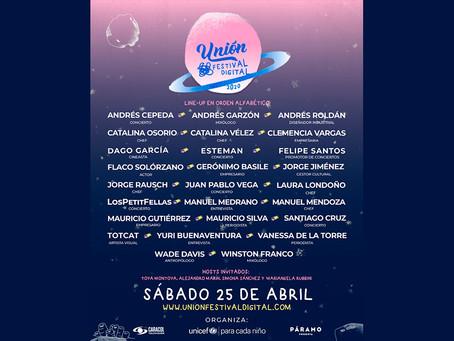 Llega Unión Festival Digital: la nueva plataforma de cultura y entretenimiento en Colombia