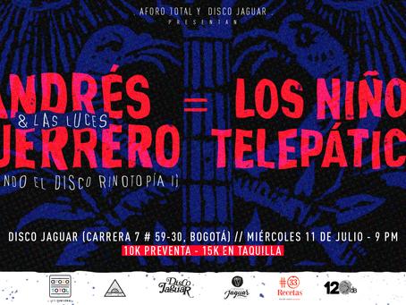 Aforo Total presenta a Andrés Guerrero y las luces junto a Los niños telepáticos
