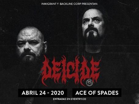 Después de su infernal presentación en Rock al Parque 2019, Deicide regresa a Bogotá