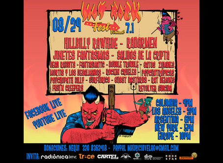 Llega la edición virtual del Hot Rock Fest 7.1