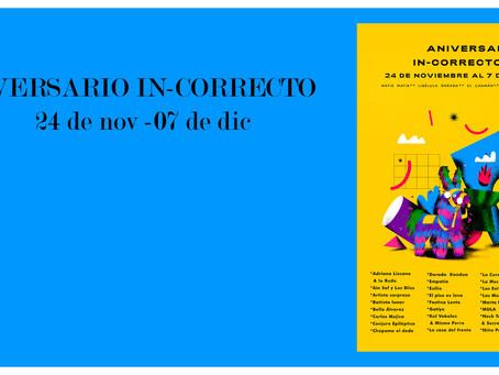 In-Correcto celebra cuatro años de resistencia cultural