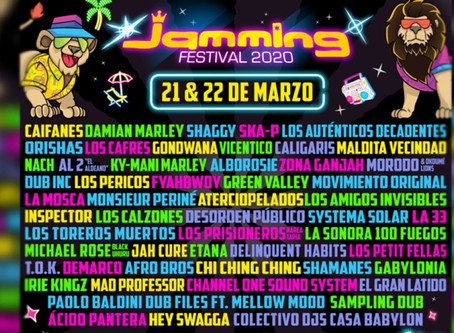 Festival Jamming 2020 aplazado hasta noviembre
