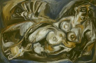 Desnudo con Abanico