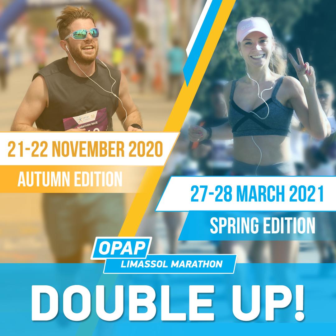 Limassol Marathon 'Double up!' campaign