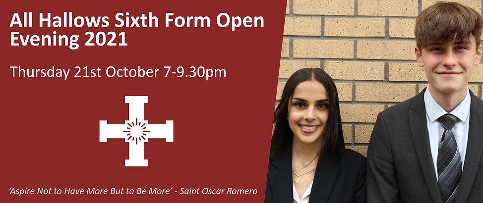 Open Evening Sixth Form Banner 21st October (Website).jpg