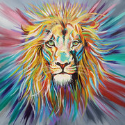 Large Powerful Lion