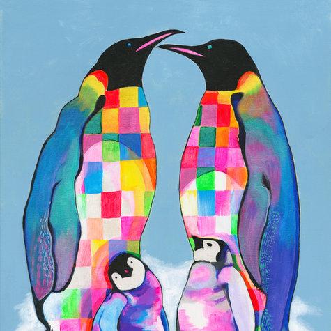 Family of penguins