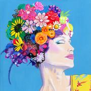 Flowers in her hair