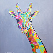 Eclectic Large Giraffe