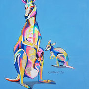 Mother and Baby Kangaroo