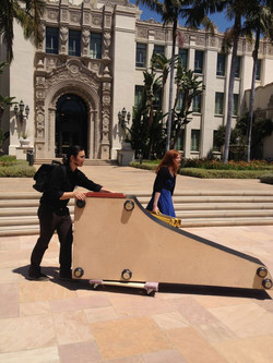 Moving the harpsichord