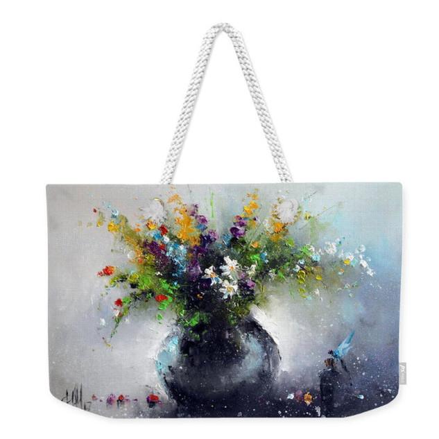 """Пляжная сумка """"Цветы с"""