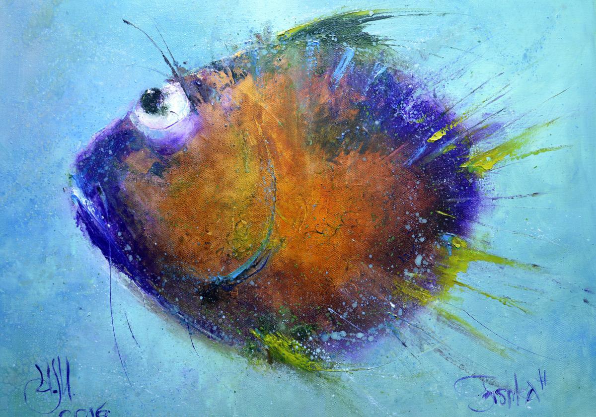 Fish-ka soft purple