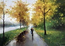 Аллея. Осень
