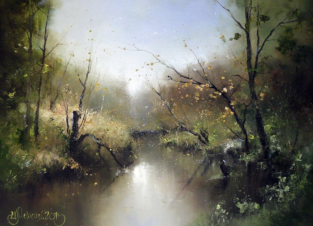 Погожий осенний день на реке Сходня