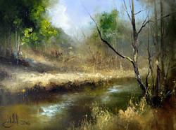 Река Сходня. 20 апреля.