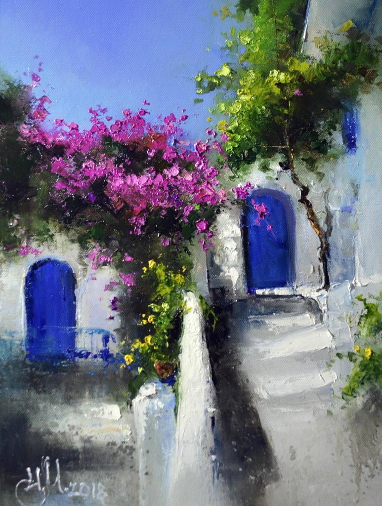 Греческий дворик. Линдос