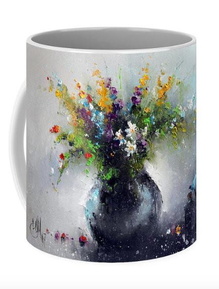 "Кружка ""Цветы с голу"