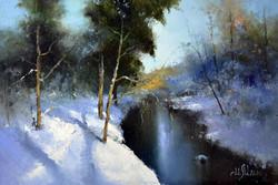 Вдоль зимней речки