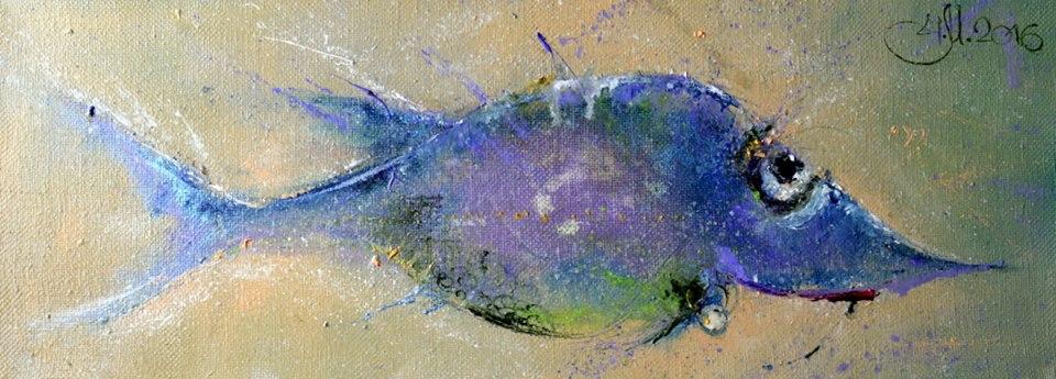 рыбка с жемчужной серёжкой