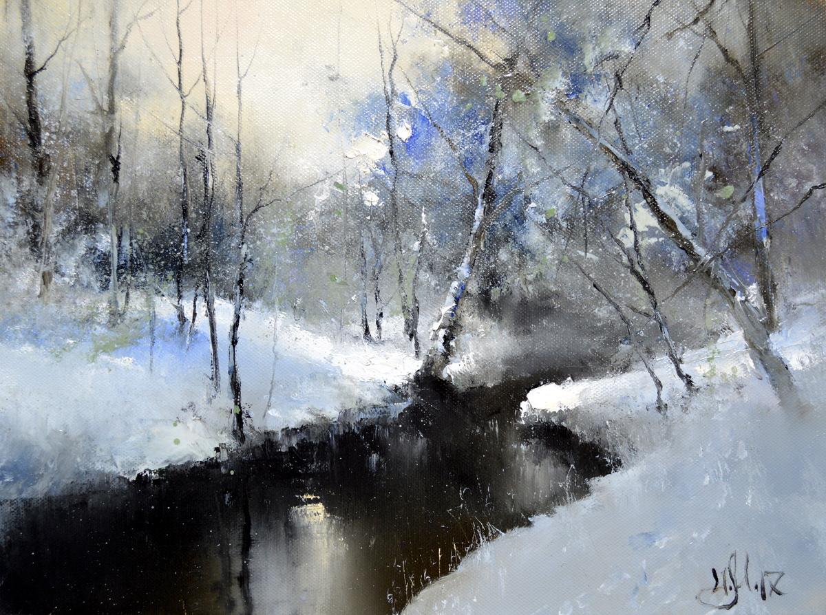 Февраль на реке Сходня