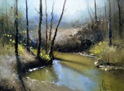 Река Сходня. 19 апреля.