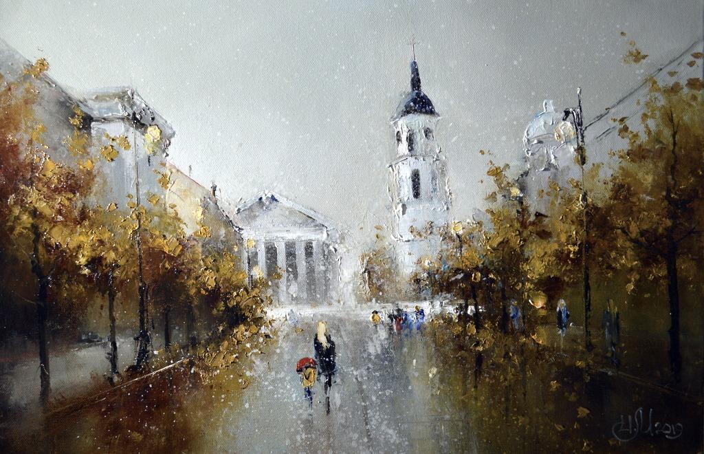 Вильнюс . Осень