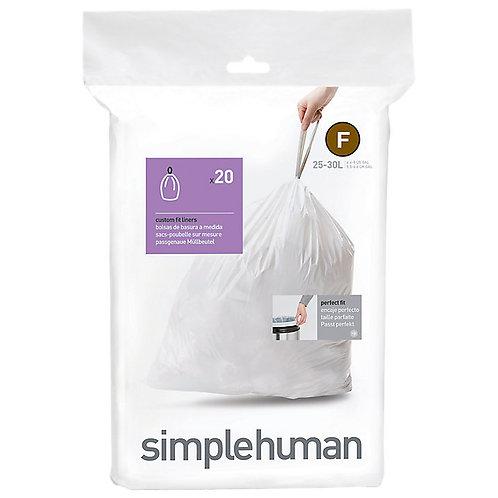 "Simple Human ""F"" Bin Liners"