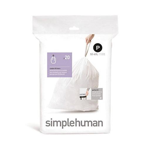 "Simple Human ""P""Bin Liners"