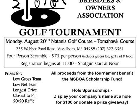 10th Annual Golf Tournament!