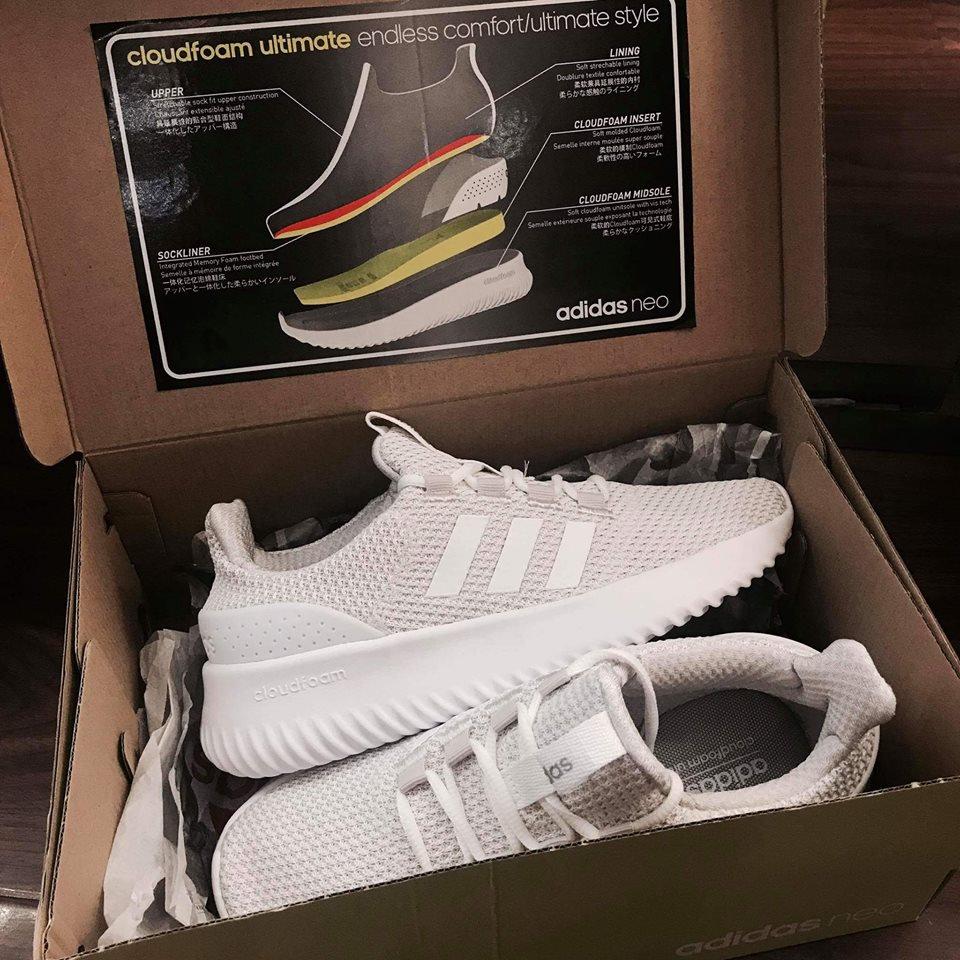 sale retailer 72edb 0f84f Adidas Neo Cloudfoam Ultimate Grey White 2018 Authentic