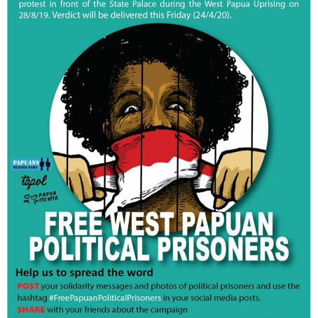 Free West Papua political prisoners!