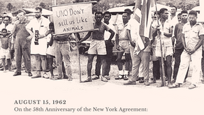 Statement on the 58th Anniversary of the New York Agreement