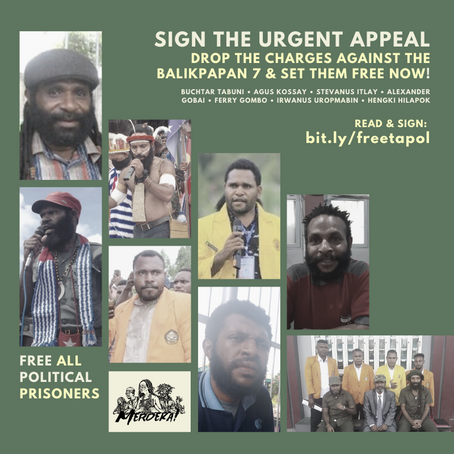 SIGN ON THE URGENT APPEAL: Drop the charges against the Balikpapan 7 and set them free now!