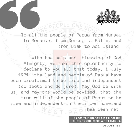 Statement on the 50th Anniversary of the Proclamation of the Republic of West Papua