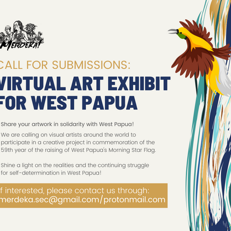 Call for Submissions: Virtual Art Exhibit for West Papua
