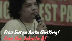 On the Arrest of FRI-WP's Surya Antah Ginting