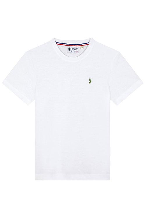 T-shirt blanc recyclé unisexe