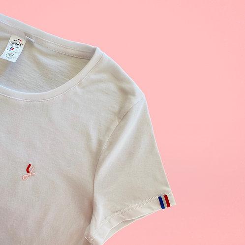 """T-shirt  femme édition limitée """"Ligue contre le cancer"""""""