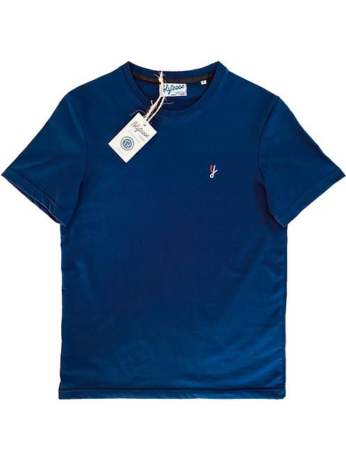 T-shirt bleu marine recyclé