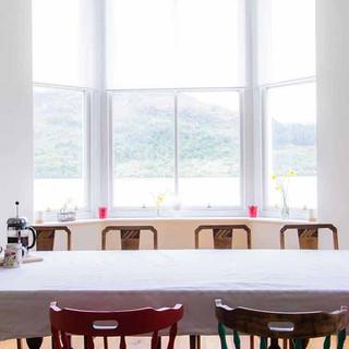 Enjoy your meals here, overlooking Loch Katrine.