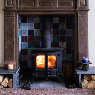We never hope for bad weather, but  if it turns out to not be great, we have cosy spaces inside to enjoy.