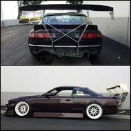 Street Faction Chassis Mounted Wing for Nissan 240SX S14 '95-'98