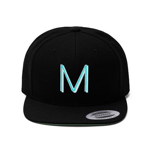 Musique Magazine Logo Unisex Flat Bill Hat